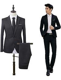 SWISSWELL Homme Costume d affaire Mariage Business Élégant Formel Slim fit  Deux pièces Veste Couleur 47977b694f0