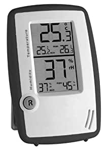 Thermometer-Hygrometer Instrument Room Control Anthrazit-White