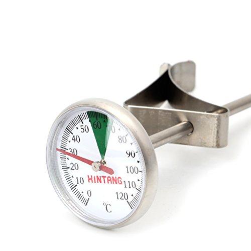 FXCO Tragbare Edelstahl Thermometer Küche Lebensmittel Kochen Milchkaffee Sonde Thermometer