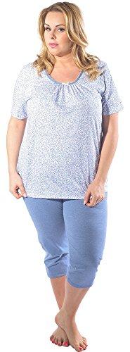 Italian Fashion IF Damen Pyjama Halina 0225 Blau