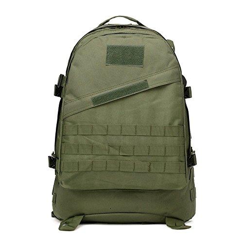 40l molle 3D zaini campeggio borsa di assalto tattici all' aperto militare di zaino per portatile da 10a 39,6cm, Black Amy Green