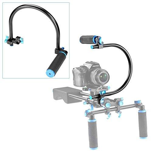 Neewer® 15mm C-Form Unterstützung Halterung + Spitzenhandgriff Griff für DSLR/DV Unterstützungssystem Anlage (Dslr-c-käfig)