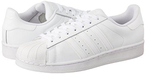 adidas Superstar Foundation, Unisex-Erwachsene Sneakers, Weiß (Ftwr White/Ftwr White/Ftwr White), EU 44 - 6