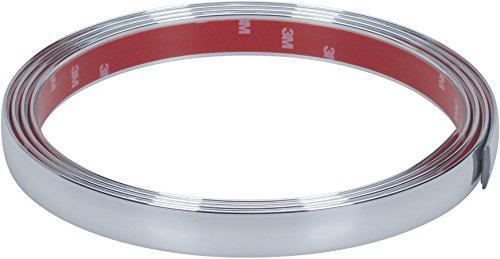 Preisvergleich Produktbild hr-imotion selbstklebende Chrom-Zierleiste - 245cm x 21mm [3M Material / Zuschneidbar / Witterungsbeständig / Hochflexibel] - 12010401