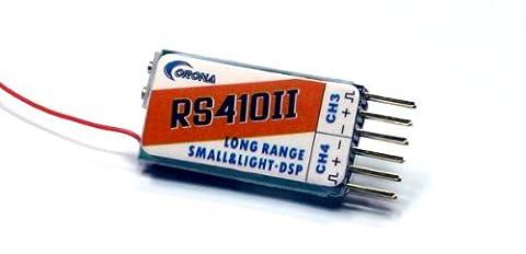 Corona RC Modell RS410II 4-Kanal 35MHz R/C Hobby Long Range Mini Receiver RV347 mit RCECHO Vollversion Apps Ausgabe