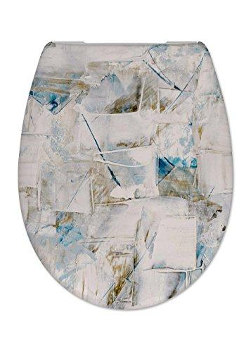Cedo Design WC Sitz Greece mit Absenkautomatik Softclose Classic, Abnehmbar mit Takeoff Original Abnahmefunktion; aus Duroplast für ovale Keramiken mit Befestigung von Unten