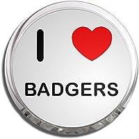I Love Badgers - Memo Clip Magnete Frigo