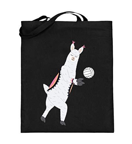 Chorchester Ideal für Volleyball und Alpaka Fans - Jutebeutel (mit langen Henkeln) -38cm-42cm-Schwarz
