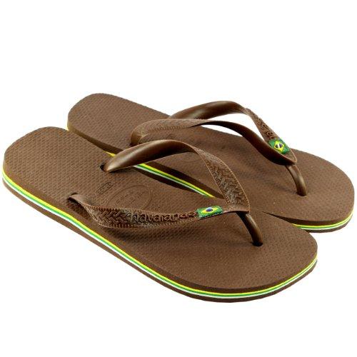 Damen Sandalen Havaianas Brasil Flip Flop Sandals Dunkelbraun