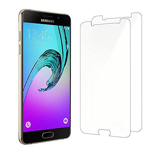 Samsung-Galaxy-A5-2016-Protection-cran-Kapoo-Verre-tremp-Samsung-Galaxy-A5-2016-cran-de-protection-en-verre-Travailler-avec-Samsung-Galaxy-A5-2016-la-plupart-des-cas-de-protectionLot-de-2