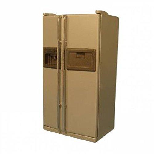 Preisvergleich Produktbild Puppenhaus Miniatur 1:12 th Skala American Silber Kühlschrank/Gefrierschrank