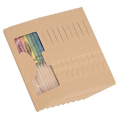 10confezioni per colorare. ideale per regali di festa di compleanno. ogni confezione contiene: 1set di 10pastelli a cera e 10pastelli in diversi colori