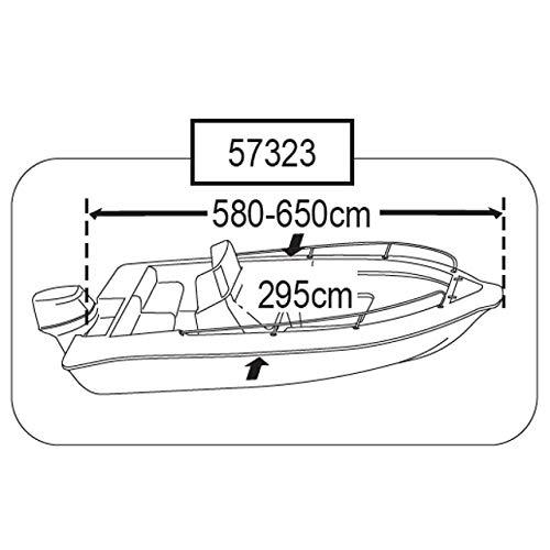 Persenning Motorboote div Größen Plane Schutzhülle Boat Cover, Größe:6
