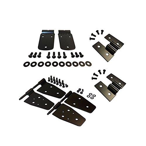 Preisvergleich Produktbild Economy Black Stainless Steel Package / half doors,  vorne