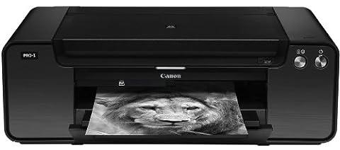 Canon PIXMA PRO-1 Inkjet 4800 x 2400DPI Black photo printer - photo printers (Inkjet, 4800 x 2400 DPI, Cyan, Dark Grey, Grey, Light grey, Magenta, Matte black, Photo black, Photo cyan, Photo magenta, Pig, A3+ (330 x 483 mm), 10x15, 13x18, 20x25, 25x30, A3, A3+, A4, Letter, A3,A3+,A4)