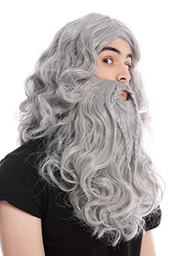WIG ME UP ® - 90760-A+B-ZA68E Peluca Barba Trenzado
