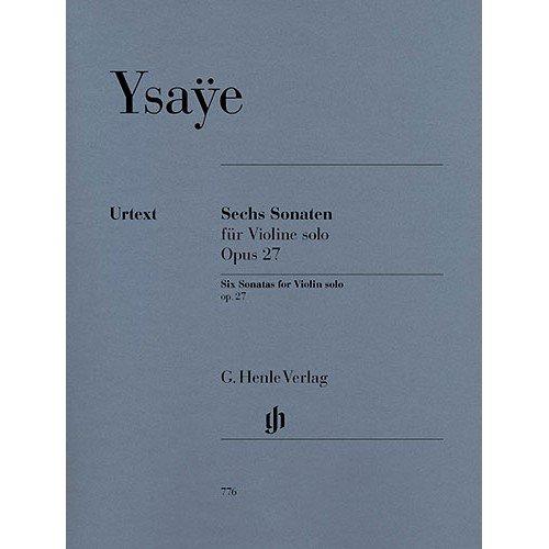 YSAYE - Sonatas (6) Op.27 para Violin (Urtext)