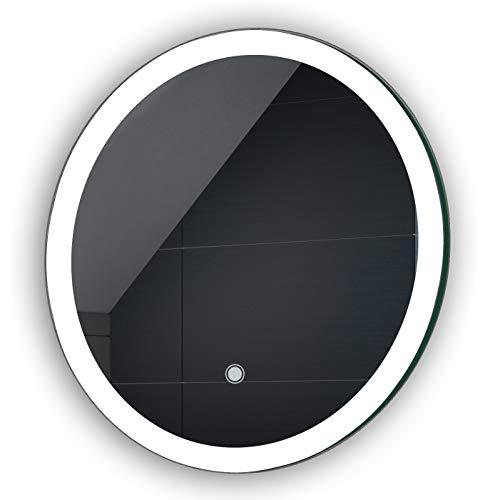 FORAM Espejo de Baño con Iluminación LED - Luz Espejo de Pared con Interruptor táctil - Diferentes tamaños para Baño Dormitorio Maquillaje - L76