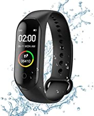 Fitness Tracker, M4 Smart Watch, Activity Tracker Orologio con cardiofrequenzimetro, IP67 Impermeabile Pedomet