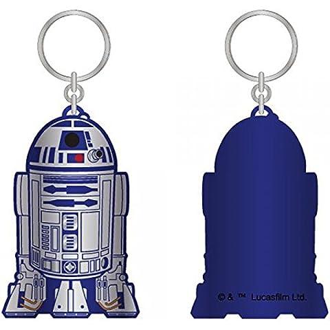 Portachiavi a forma di robot R2D2 di Star Wars, colore: nero/piombo nuova licenza ke2kc5stw in metallo - Piombo Portachiavi