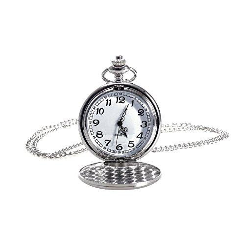 NICERIO Reloj de bolsillo vintage, reloj de cuarzo unisex Reloj de bolsillo...