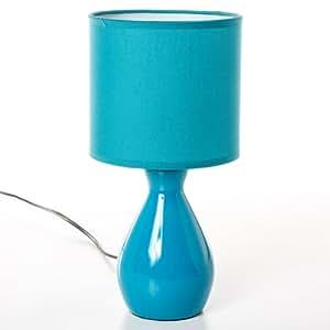 Lampe de chevet ceramique 30cm bleu 110231