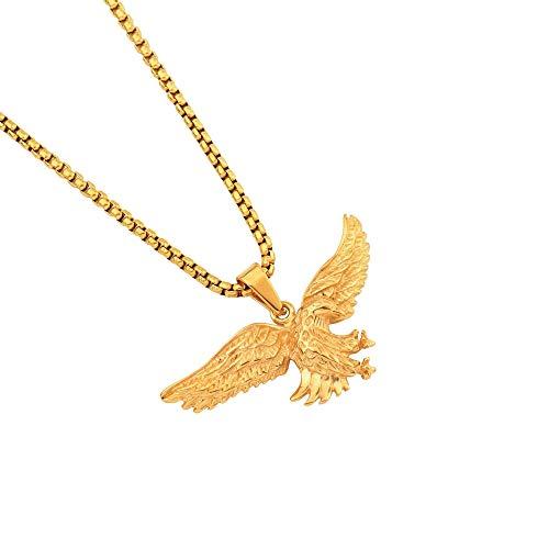 Hiphop Eagle Anhänger Halskette Edelstahl Mode Schmuck Für Männer Frauen Geschenk 70cm (Eagle Mann Kostüm)