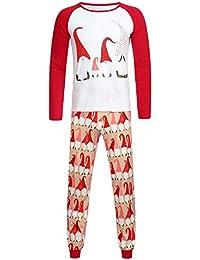 Zolimx Family Anzug Passende Weihnachten-Daddy und Mom Kinder Baby-Weihnachtsmann übersteigt Blusen-Hosen-Familien-Pyjamas Nachtwäsche-Weihnachtssatz