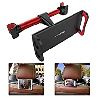 "Tryone Car Headrest Holder, Tablet Headrest Mount Compatible with Smartphones/Tablets/Switch 4.7""-10.5"", Headrest Posts Width 4.9in-5.9in (Red)"