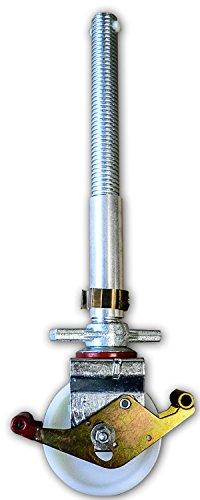 ALTEC 150 mm Rolle mit Doppelbremshebel und Stahlspindel für Rollfix-/AluKlik-Gerüste (4 Stück)
