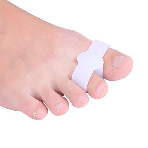 Protettore della punta gel silicone rilievo dolore di allineamento separatore raddrizzatore protettore della punta 4 pcs