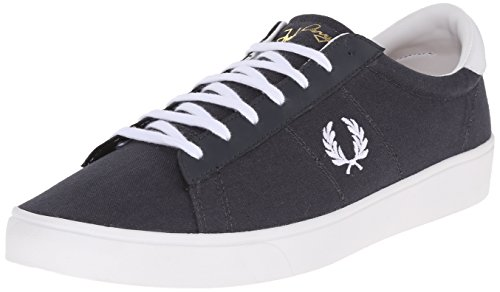 Fred Perry Spencer Canvas Leather Charcoal Grau