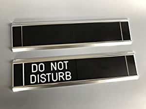 Sliding Door Signs Entry Control Do Not Disturb Office Products