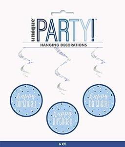 Unique Party- Adornos, Color blue & silver (83793)