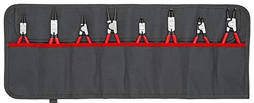 KNIPEX 00 19 58 V01 Sicherungsringzangen-Set 8-teilig, Mit Mit praktischem, verstellbarem Schnellverschluss