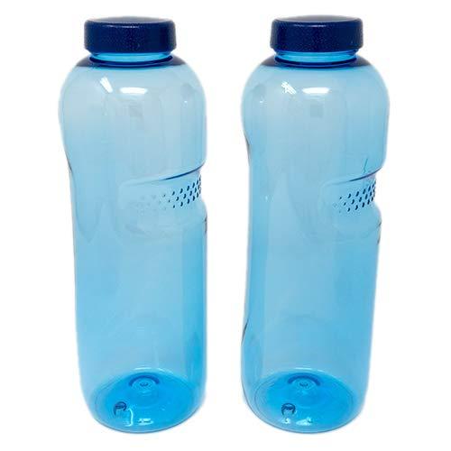 SAXONICA Trinkflasche aus Tritan 2 x 0,5 Liter ohne Weichmacher BPA frei (Bisphenol A frei) für Wasser, Milch oder Saft