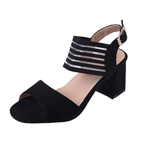LuckyGirls Women's Fish Mouth Fashion Sandals Non-Slip Open Toe Belt Buckle Women's Sandals