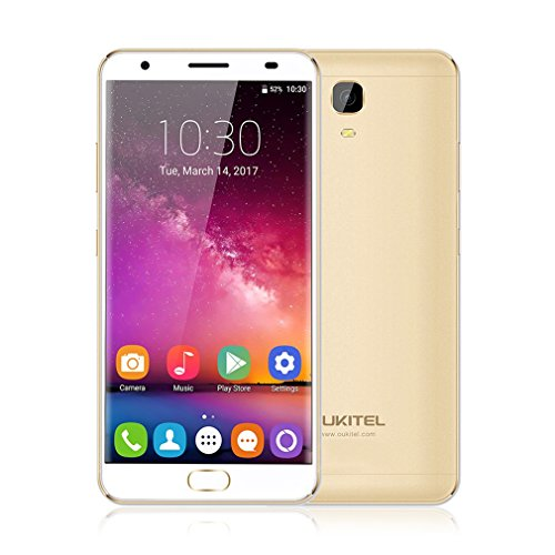 4G Smartphone Android 7.0, OUKITEL K6000 Plus Handy Ohne Vertrag 5.5Zoll HD 1920 * 1080 Pixel 4GB RAM+64GB ROM 6080mAh Akku 8.0MP Frontkamera+16.0MP Hauptkamera Fingerabdruck 12V/2A Flash Charge 1.5GHz Octa Core Dual-SIM (Micro-max 4g Handy)