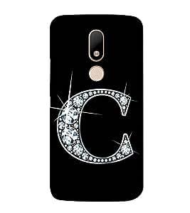 Alphabet C 3D Hard Polycarbonate Designer Back Case Cover for Moto M