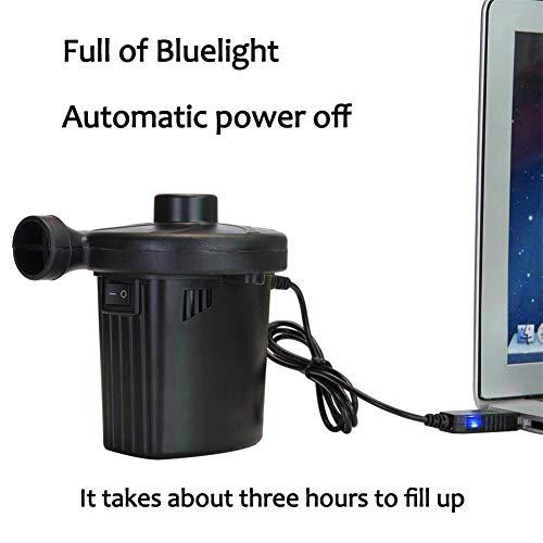 Bomba De Aire Eléctrica Para Inflables,Colchón De Aire USB Con 3 Boquillas, Bomba De Aire Eléctrica De Almacenamiento Bomba De Bombeo De Carga Para Colchón De Aire Inflables Piscina Flotadores Juguete