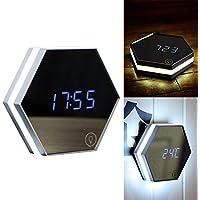 Reloj despertador digital LED recargable para el día de San Valentín