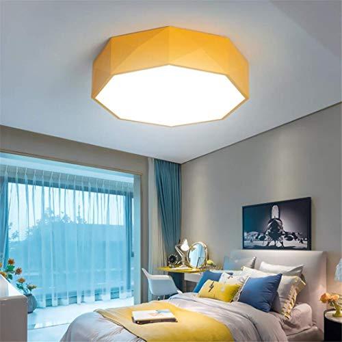 Ceiling Light-A Deckenleuchte Kreative Einfache Schmiedeeisen Deckenleuchte Led Gelbe Nordische Persönlichkeit Runde Schlafzimmer Lampe Post-Moderne Raumbeleuchtung - Schmiedeeisen-post-laterne