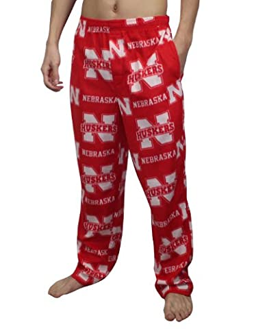 NCAA Nebraska Cornhuskers Mens Polar Fleece Sleepwear / pajama pants XL red