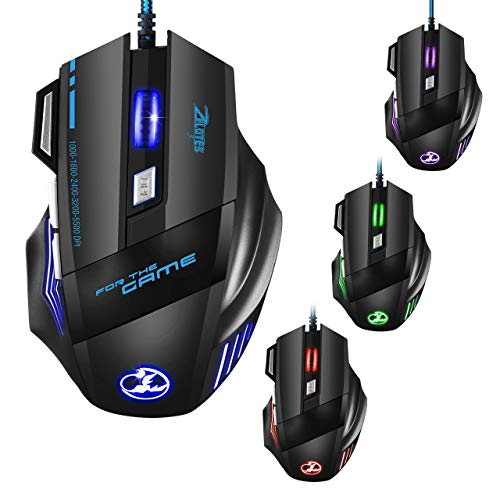 TOPELEK Souris Gamer, Souris Gaming Professionnel...