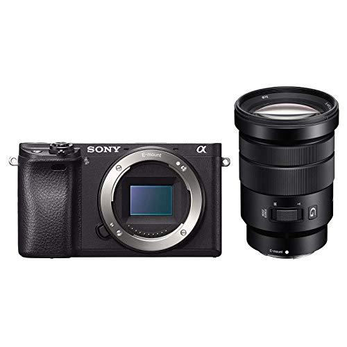 Sony Alpha 6300 E-Mount Systemkamera (24 Megapixel, 7,5 cm (3 Zoll) Display, XGA OLED Sucher, GBDI -Kit inkl. SEL-P18105G 18-105mm G Objektiv) schwarz