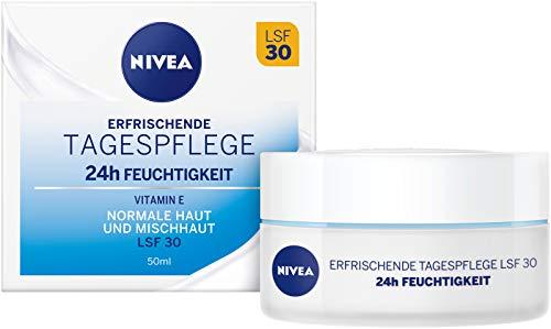 NIVEA Essentials Tagespflege 24h Feuchtigkeit + Frische im 2er Pack (2 x 50 ml), Feuchtigkeitscreme...