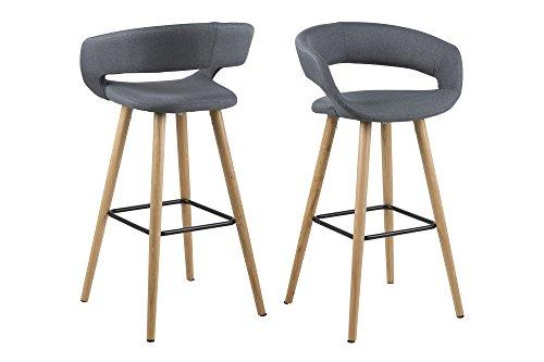 Design furniture jack sgabello tessuto struttura legno colore