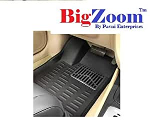 BIGZOOM_(Croc Textured) 3D Car Floor Mats For Hyundai Grand i10-(Black)