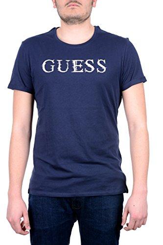 guess-jeans-t-shirt-maniche-corte-uomo-blu