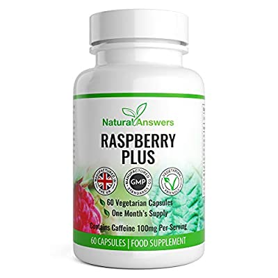 Raspberry Plus 60 Vegetarian Capsules 1 Month Supply UK Manufactured from Natural Answers Ingredients Include: Green Tea Extract, Caffeine Anhydrous, Apple Cider Vinegar, Kelp Powder, Raspberry Extract, Grapefruit Powder and More.